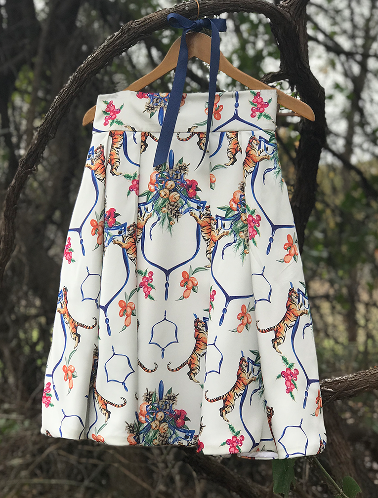 Midi Skirt in Bengal Bells - GinnyMoon