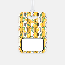Personalized Luggage Tag, Sunny Lemon Black - GinnyMoon