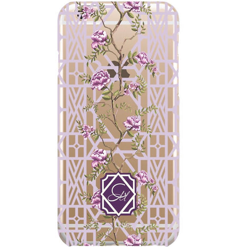 Phone Case for Samsung, LG & Google- Clear Climbing Peony - GinnyMoon