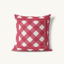 Indoor-Outdoor Pillow, Gingham Classic Neutrals - GinnyMoon