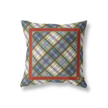 Indoor Outdoor Pillow, Orchard Plaid/Bittersweet - GinnyMoon