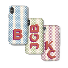 Phone Case, Android Monogram Casual Stripe - GinnyMoon