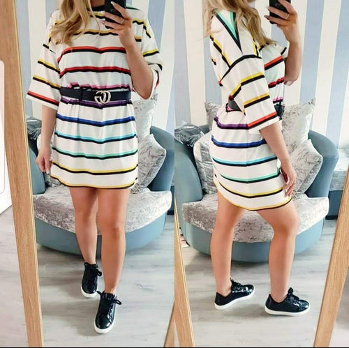 Oversized tee dress - Rainbow