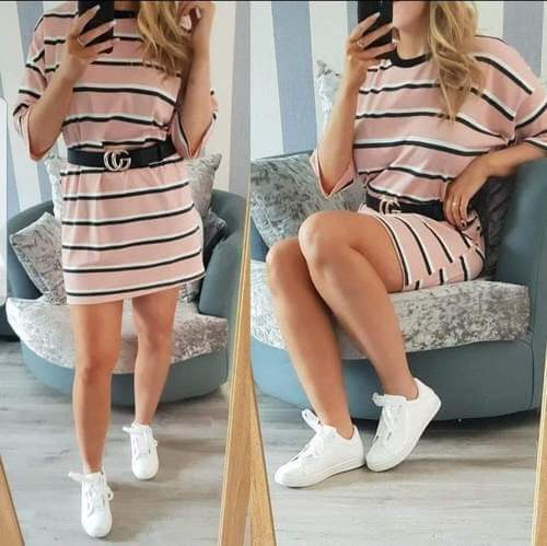 Oversized tee dress - Peach