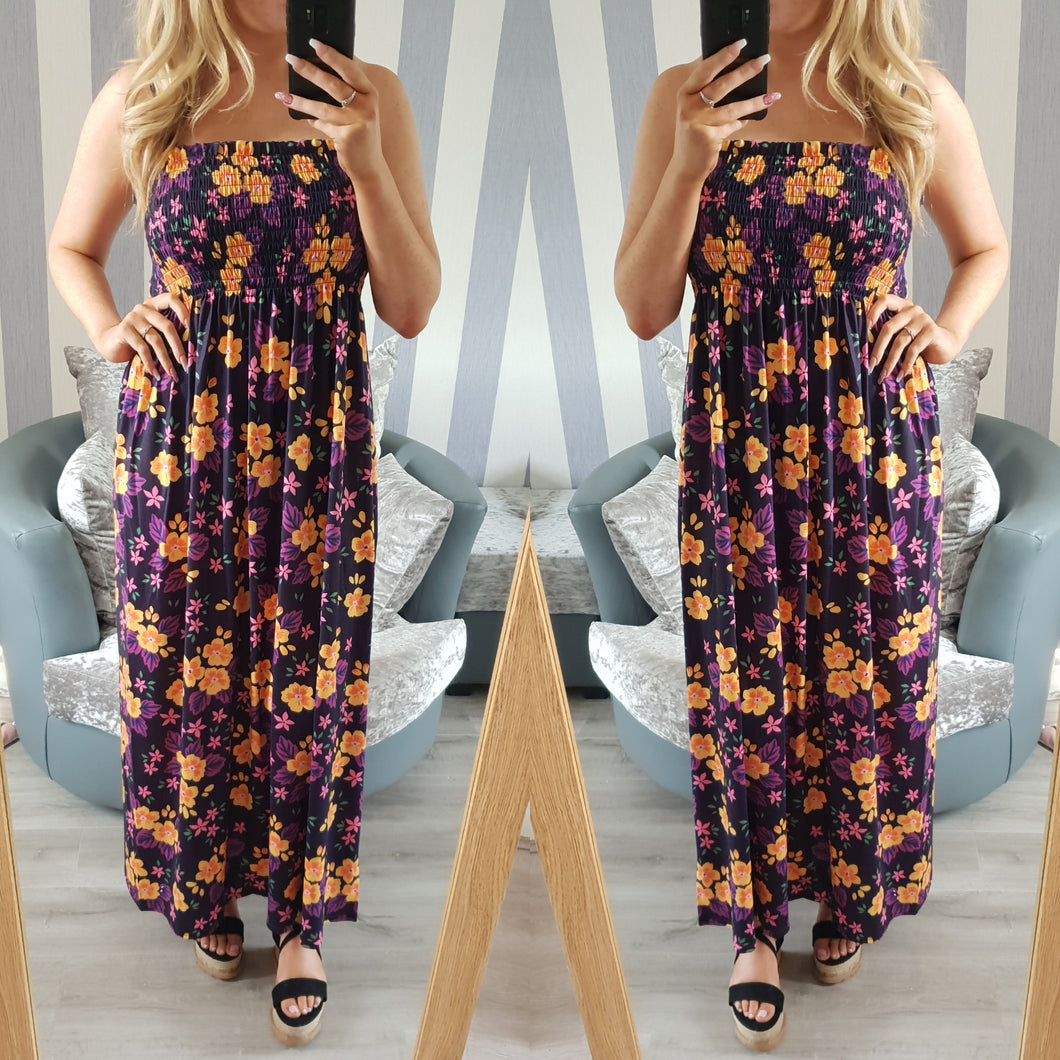 Michaela maxi dress - purple/orange