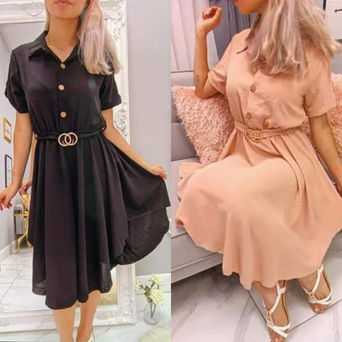 Katie Buckle Shirt Dress - 2 colours