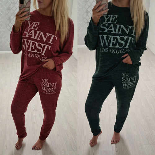 Ye Saint West Lounge wear - 2 colours