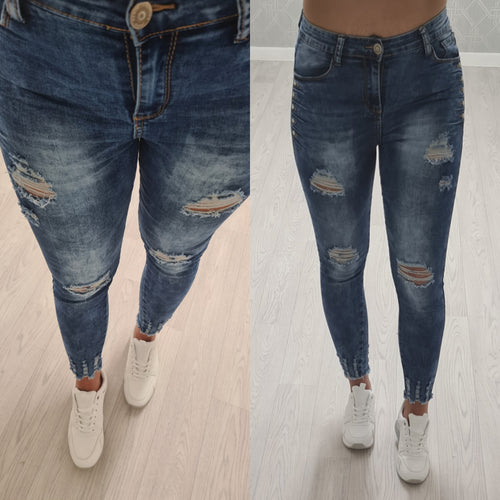 NEW Chloe Crop Diamante Jeans