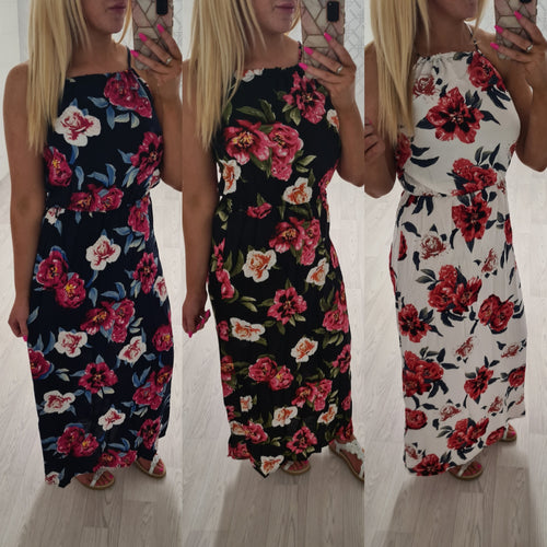 Floral Maxi Dress - 3 colour