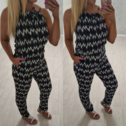 Zigzag Jumpsuit - 2 colours