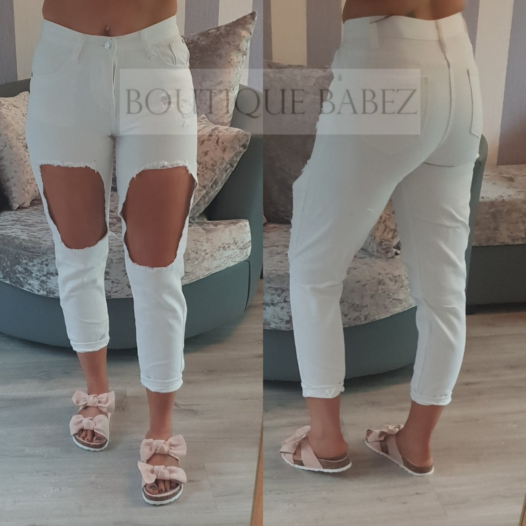 Rachael Ripped Jeans - White