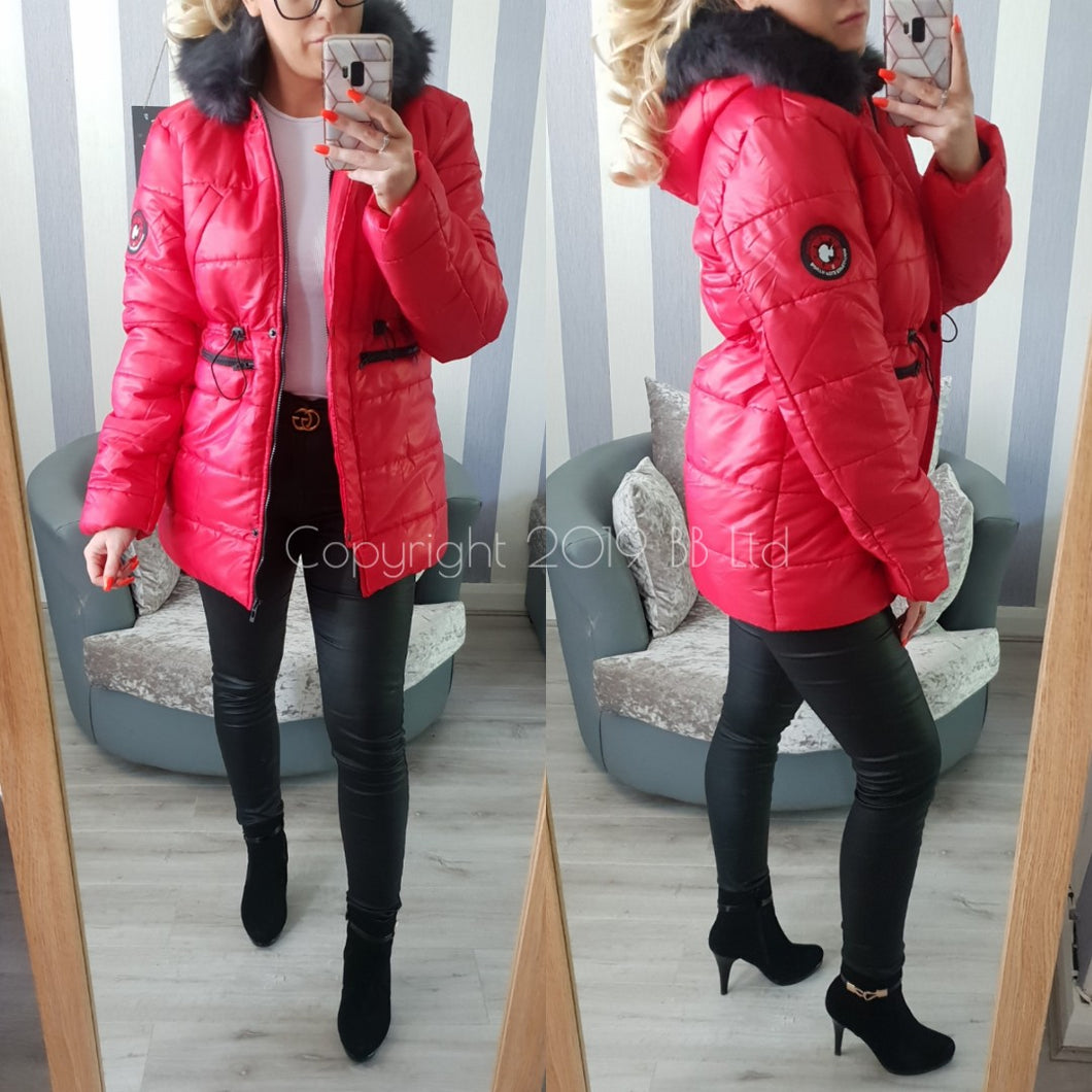 Taylor Padded coat - Red