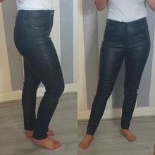 Paris Wax Look Jeans -Black