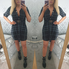 New Check Shirt Dress -2 Colours