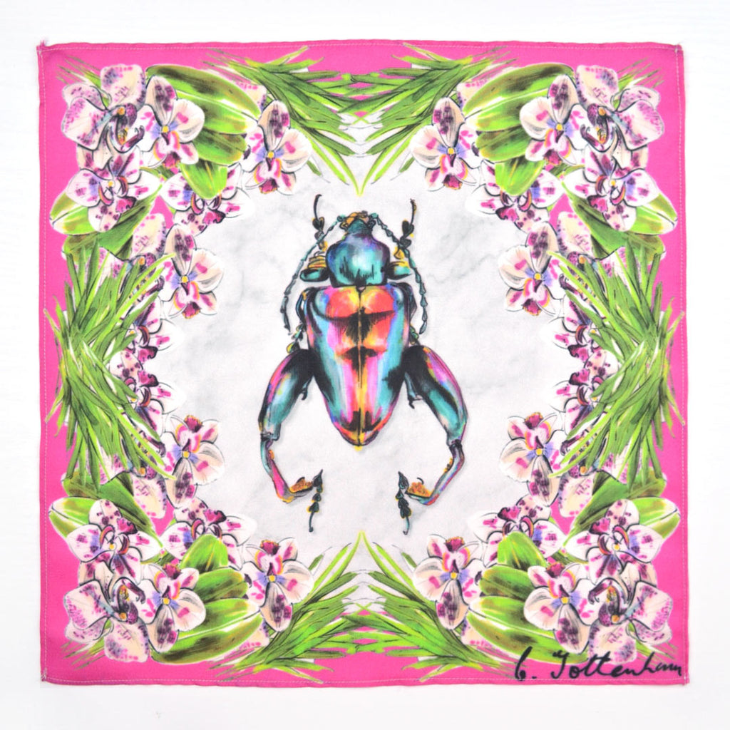 Jungle Beetle Pocket Square