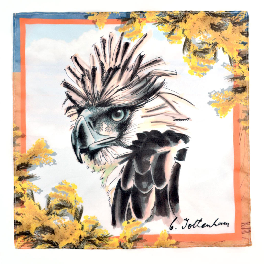 Philippine Eagle. Eagle eyed guidance. Spirit animals silk pocket square