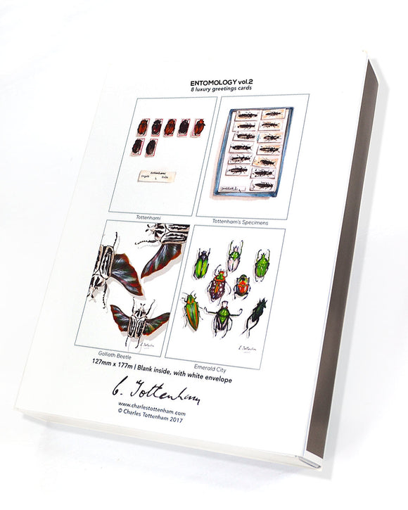 Entomology greetings card box set
