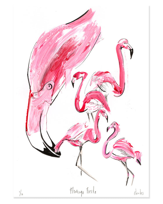 Flamingo Fiesta | A3 Signed edition of 10