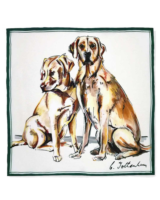 Perfect Pair Silk Pocket Square Set Labrador