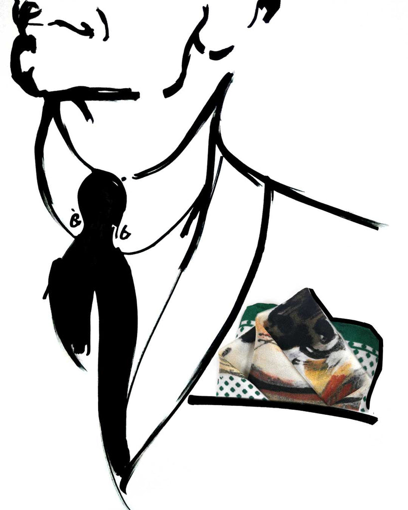 Silk Pocket Square Set Labrador