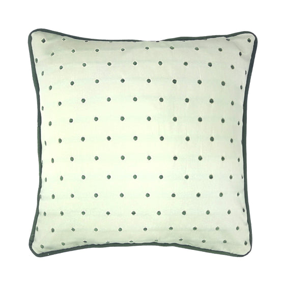 Opaline Green Embroidered Polka