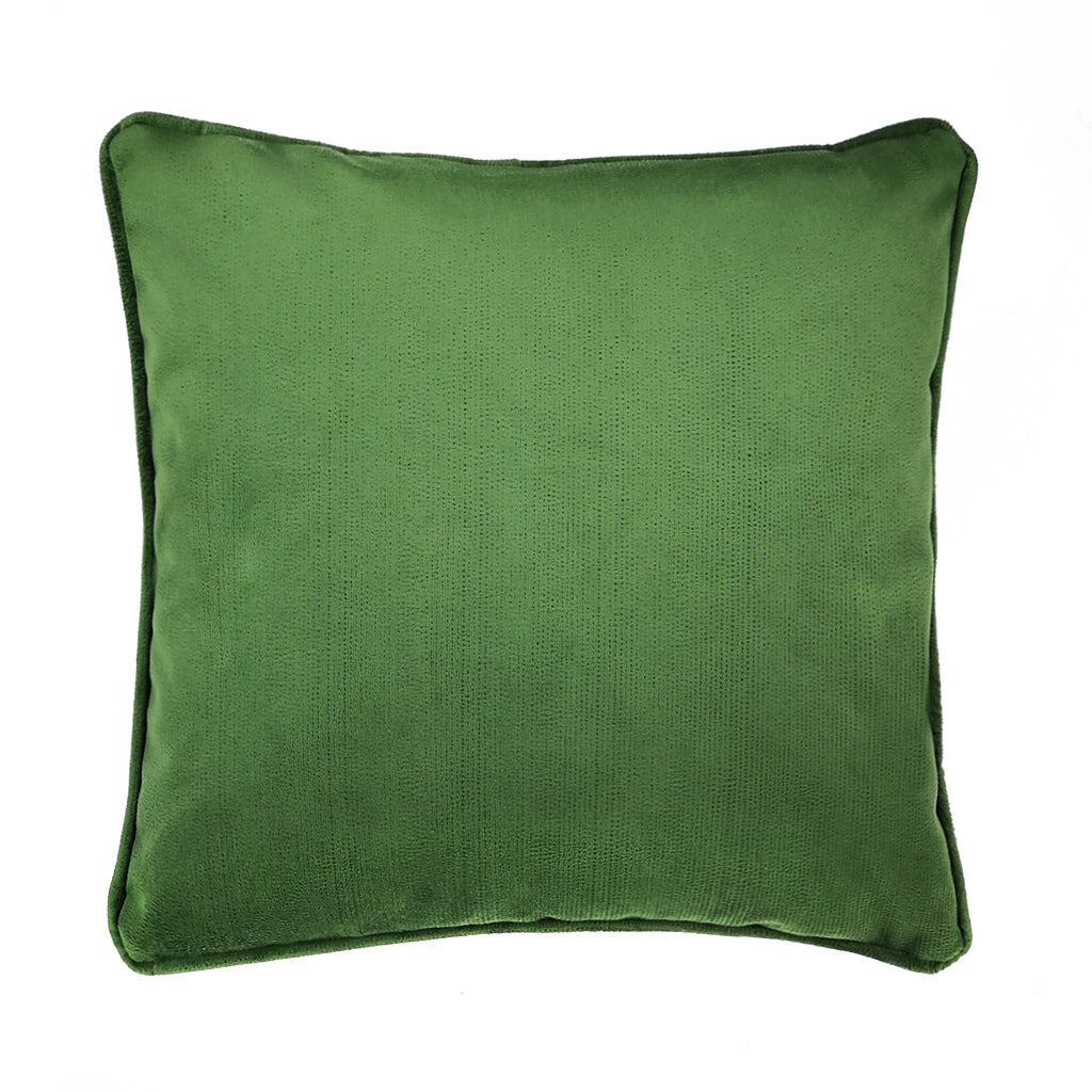 Opaline Green Embroidered Polka Cushion