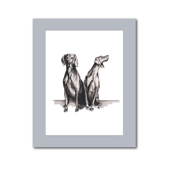 'Grey Weimaraners' original artwork