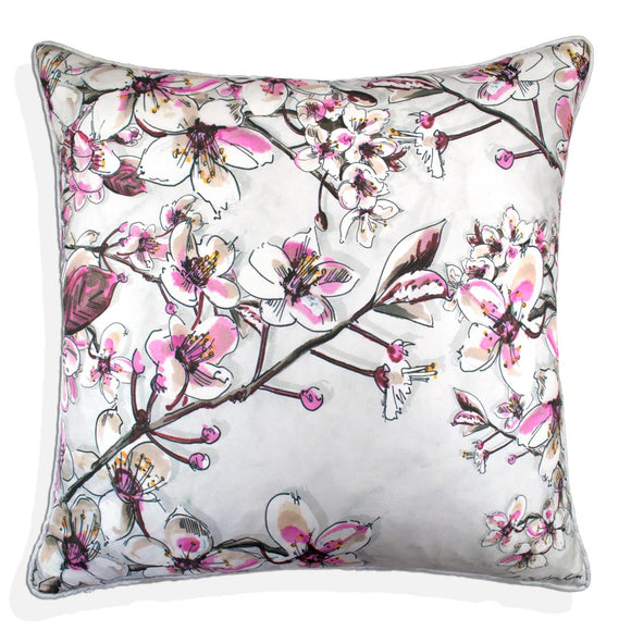 Cherry Blossom Silk Cushion