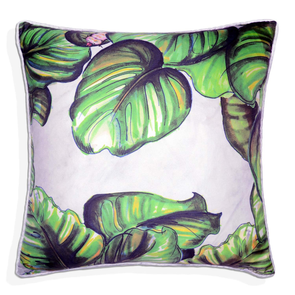 Money Plant Silk Cushion