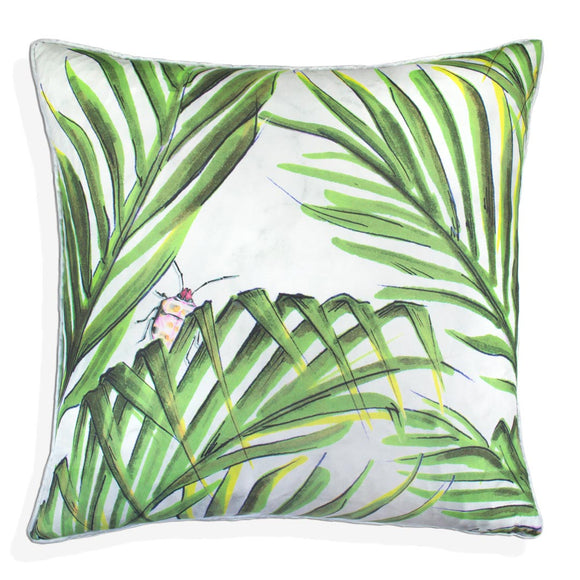 Palm Reflection Silk Cushion