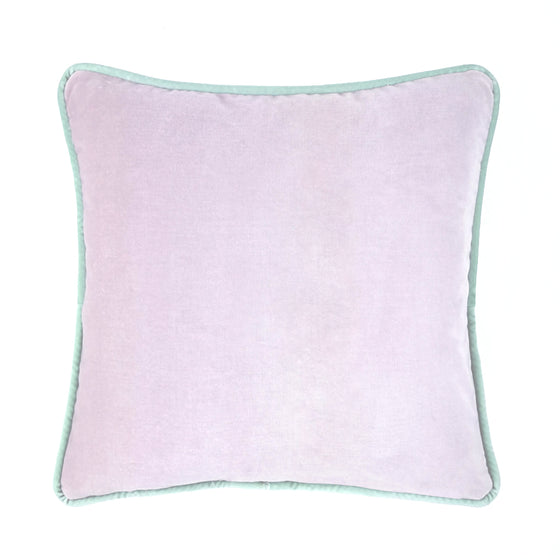 Lavender Frost Piped Velvet