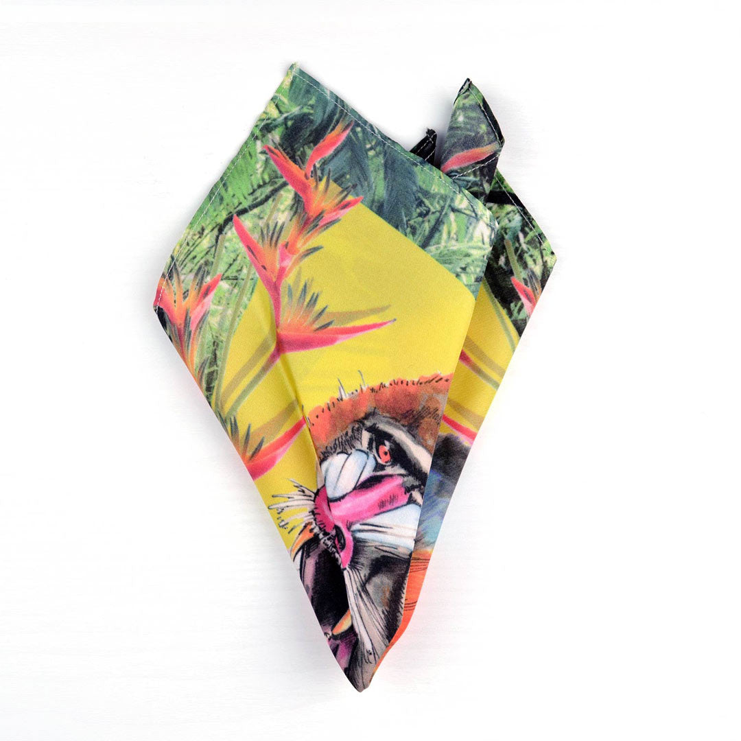 Spirit animals, The Mandril, Stand Your Ground. Silk pocket square