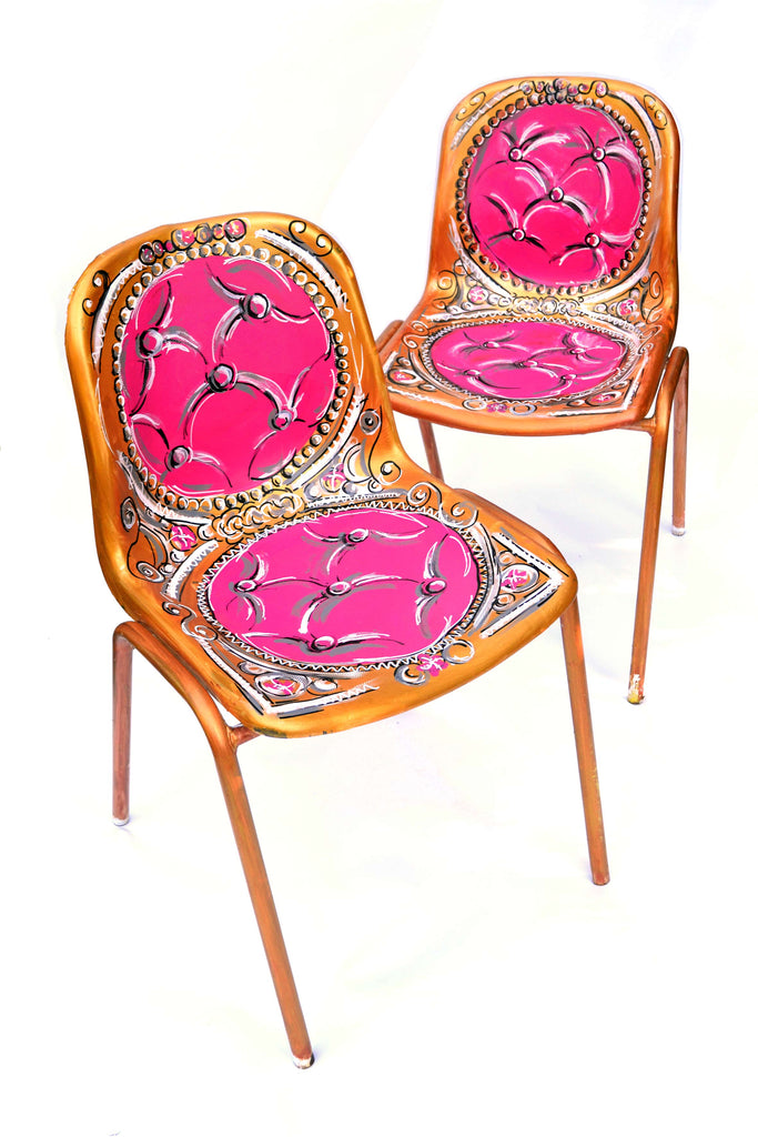 A pair of Louis XVI chairs