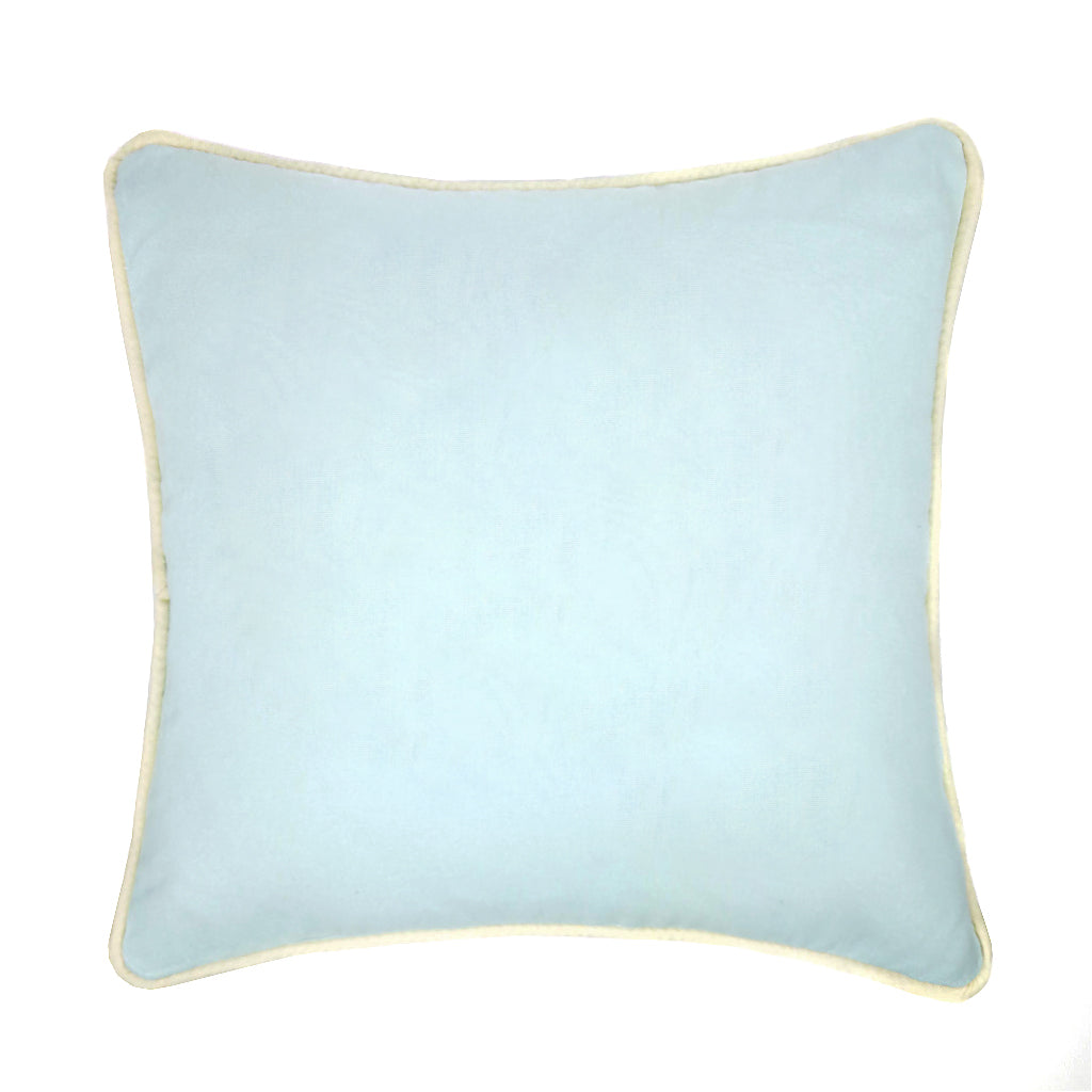 Eggshell Blue Piped Cotton Twill