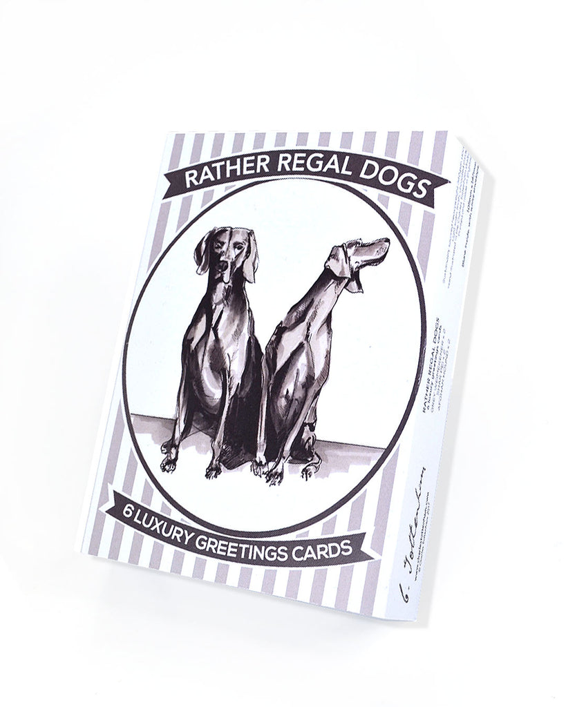 Rather Regal Dogs | 6 small card boxed set