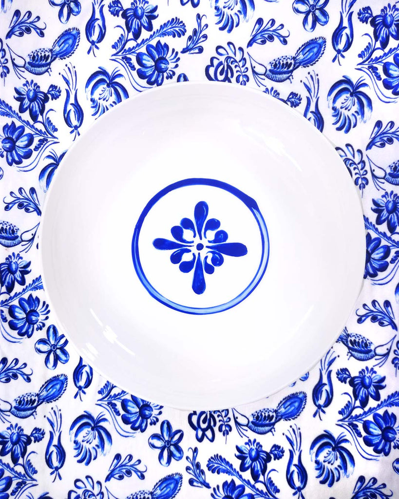 Cobalt Emblem | Porcelain Side Bowl