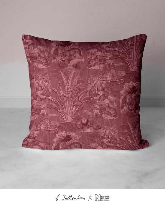 Big Cats Jungle Silk Cushion Plumeria