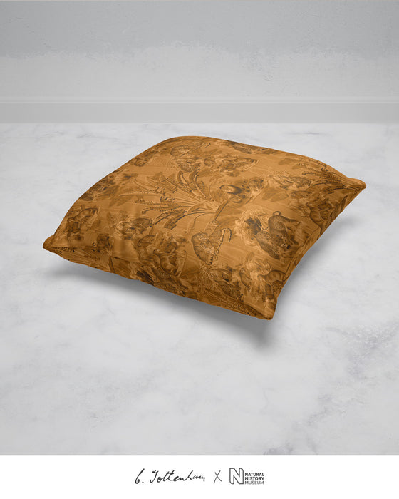 Big Cats Jungle Silk Cushion Ochre