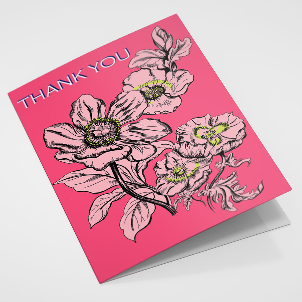 Thank You - Pink Poppies