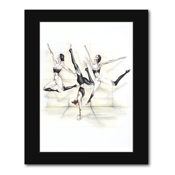 'Yoga Jumps' original artwork