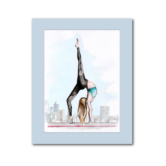 'Yoga Skyline' original artwork