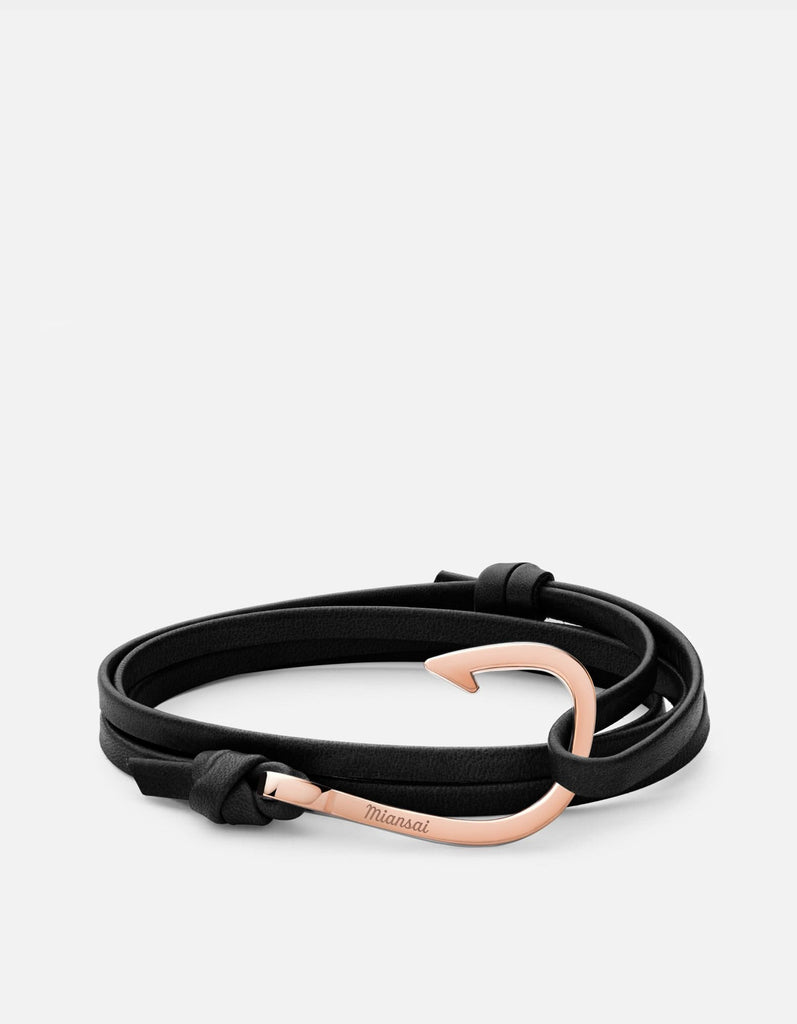 Hook on Leather Bracelet, Rose | Men's and Women's Bracelets | Miansai