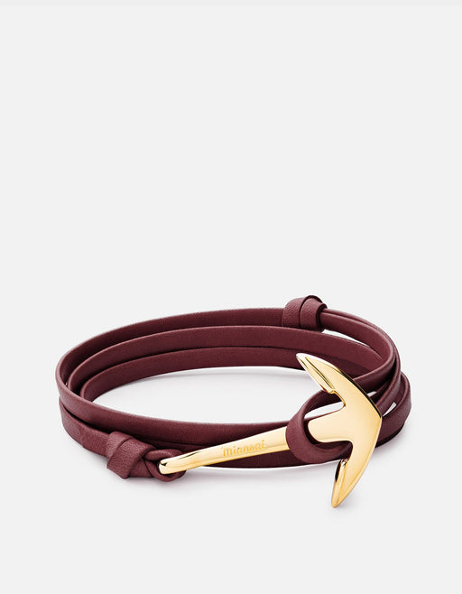 Miansai - Anchor Leather, Gold