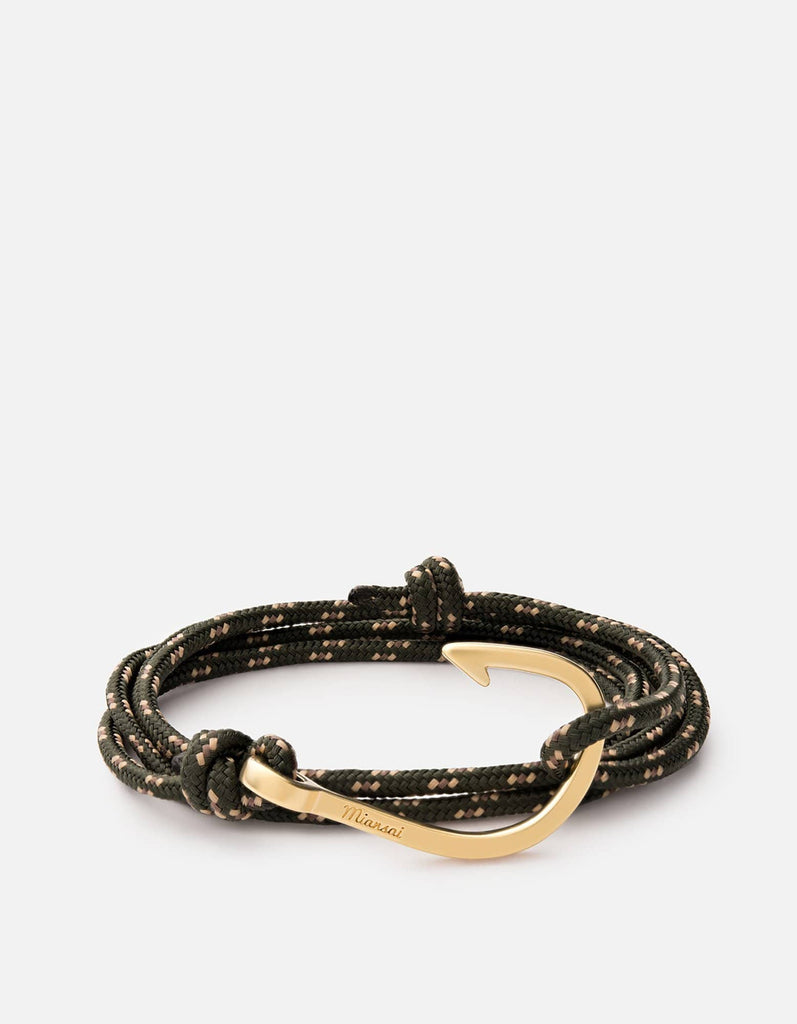 Hook on Rope Bracelet, Matte Gold | Men's Bracelets | Miansai