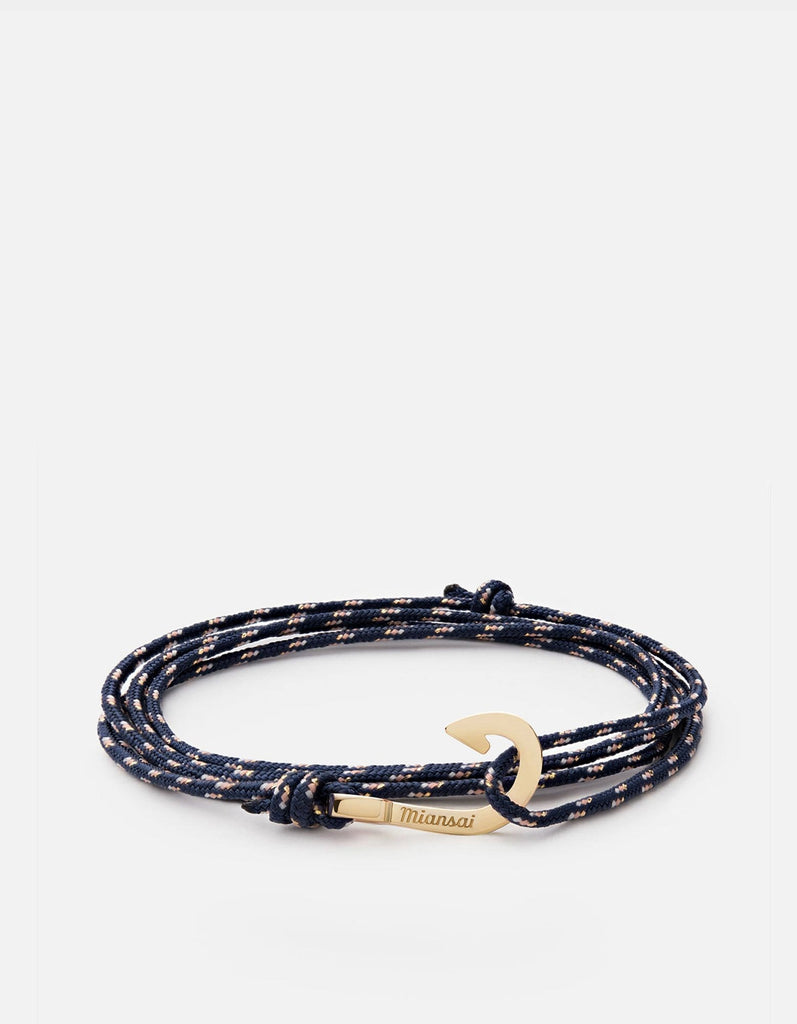 Mini-Hook on Thin Rope Bracelet, Gold | Women's Bracelets | Miansai