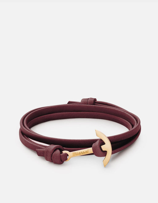 Miansai - Mini Modern Anchor Leather, Gold