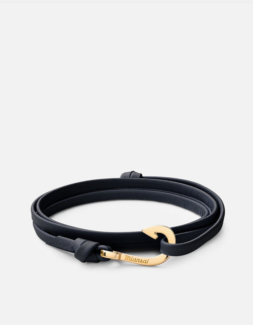 Miansai - Mini-Hook Leather, Gold