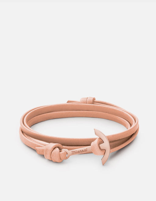 Mini Modern Anchor on Thin Leather, Rose | Women's Bracelets | Miansai