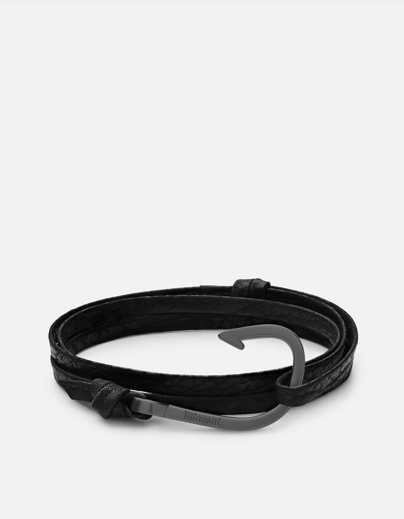 Hook on Shark, Matte Black Rhodium | Men's Bracelets | Miansai