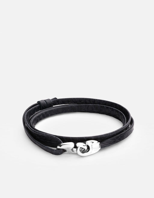 Miansai - Bind Leather Bracelet, Sterling Silver